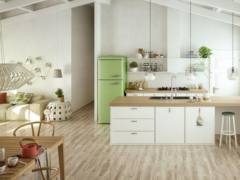 Rivestimento cucina effetto legno larice riverside iperceramica - Rivestimento cucina effetto legno ...