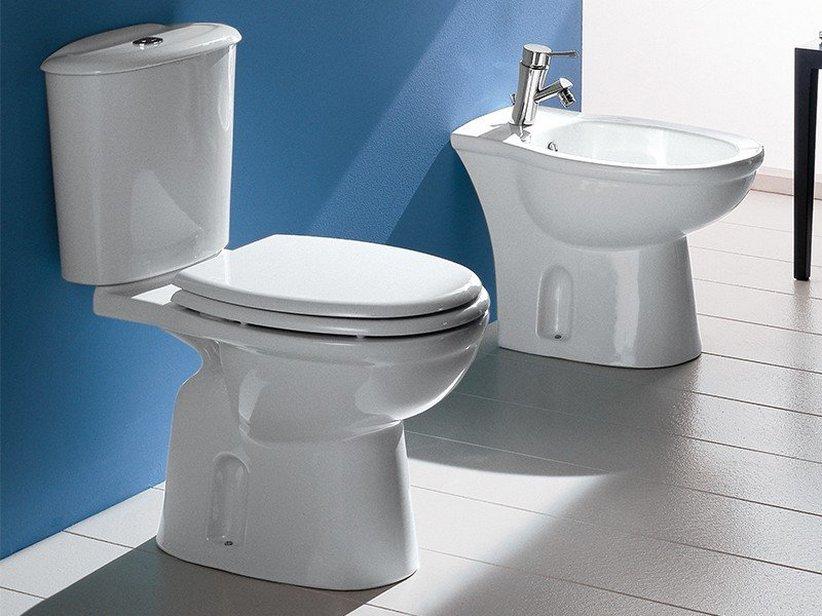 Praga wc monoblocco scarico pavimento iperceramica - Sciacquone bagno ...