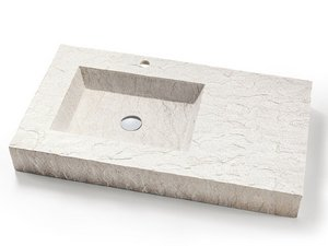 LAVABO TOP SLATE 90 RESINA-BIANCO DECAPE