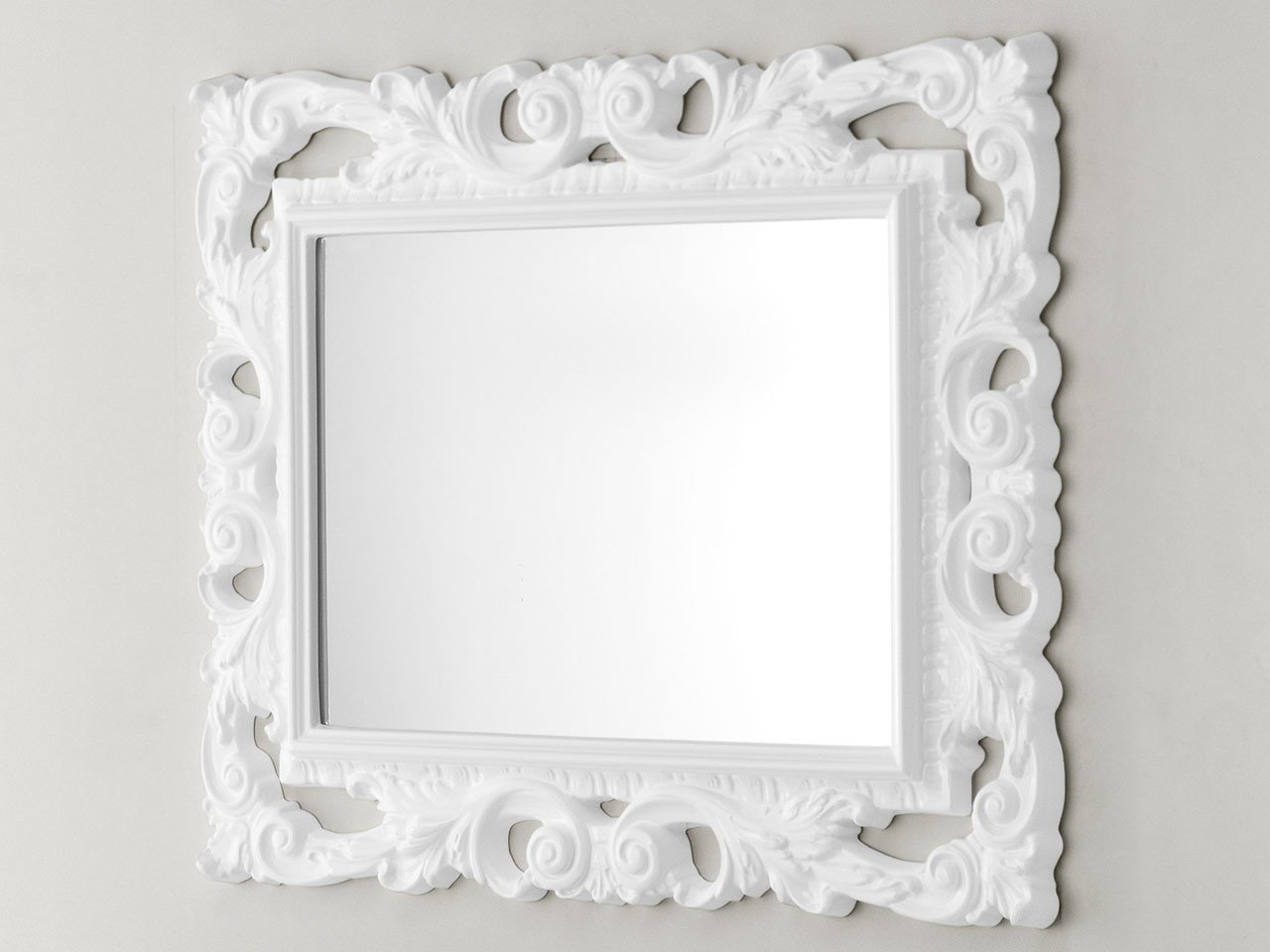 Specchio barocco 94x75 bianco iperceramica for Cornice specchio