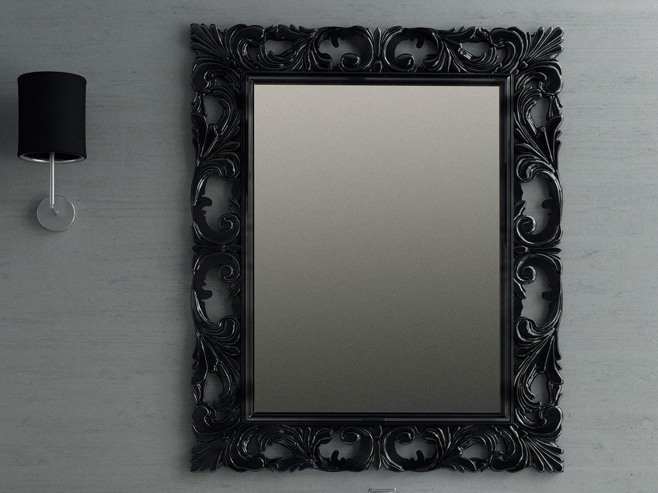 Specchio barocco 94x75 grigio antracite iperceramica - Specchio per valutazione posturale ...