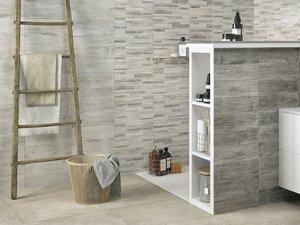 Taiga decoro mix grigio 25x40 iperceramica - Rivestimento bagno effetto legno ...