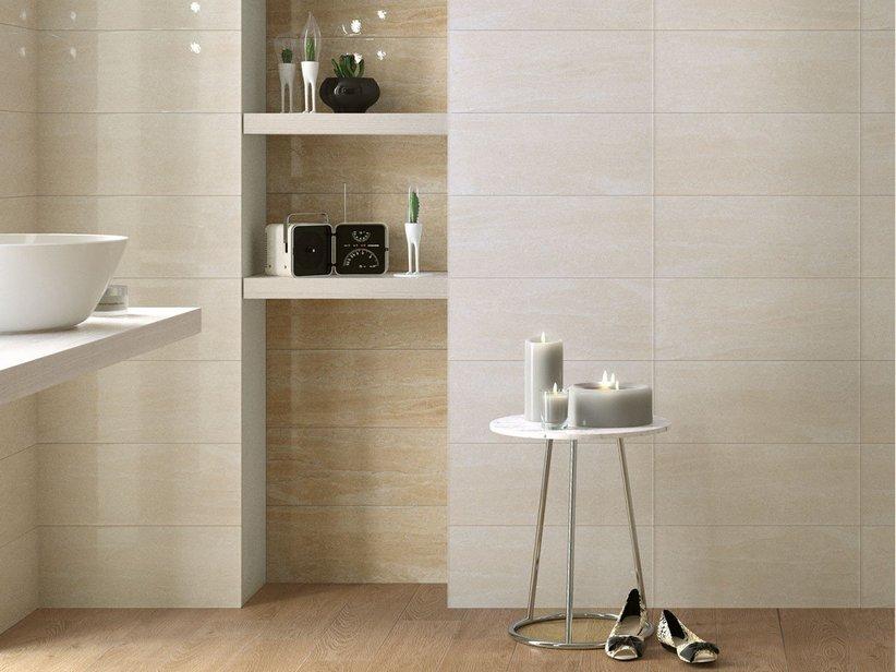 Rivestimento bagno effetto marmo tivoli iperceramica - Rivestimento bagno moderno ...