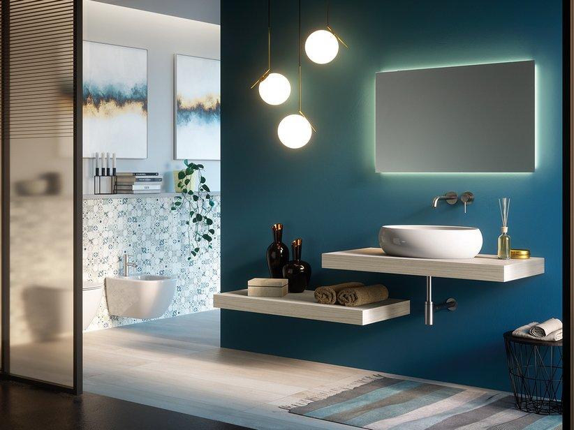 Mobile bagno topsy top 109 iperceramica for Specchio bagno 70x100