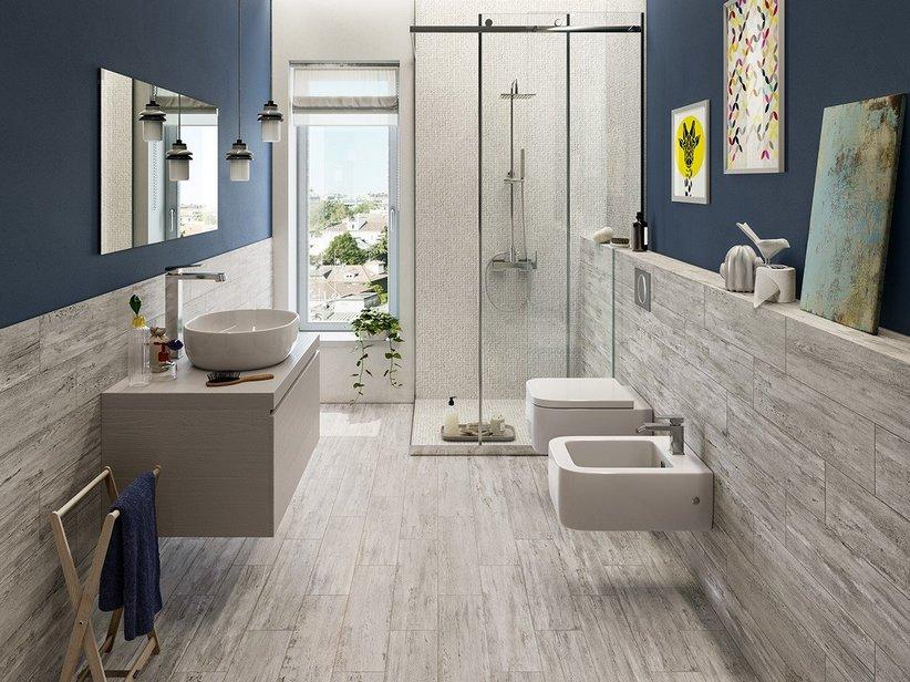 Rivestimento bagno effetto sverniciato underground iperceramica for Rivestimento bagno gres porcellanato