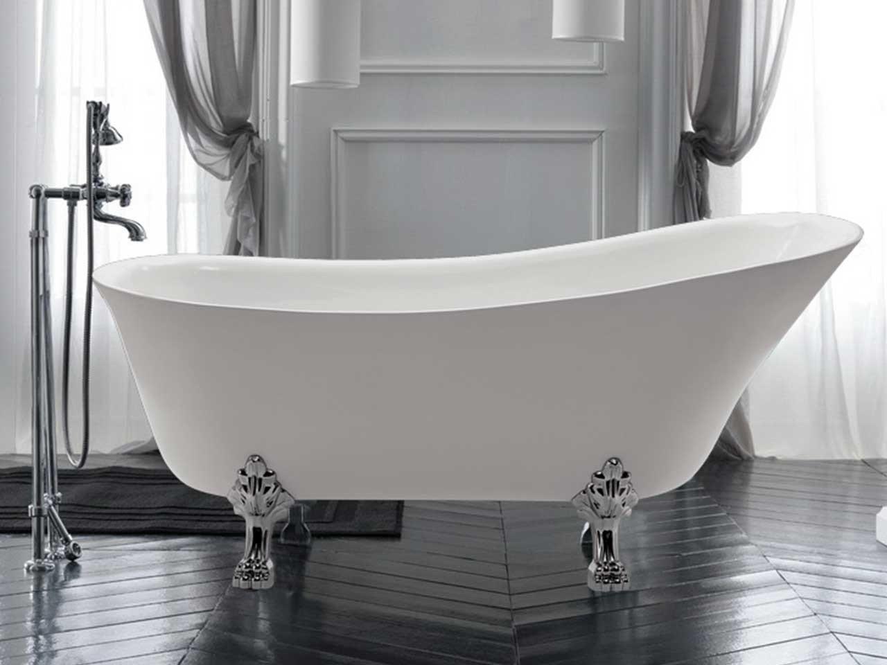 Vasca deco 1700x720 piedi inclusi iperceramica - Vasca da bagno piedini ...