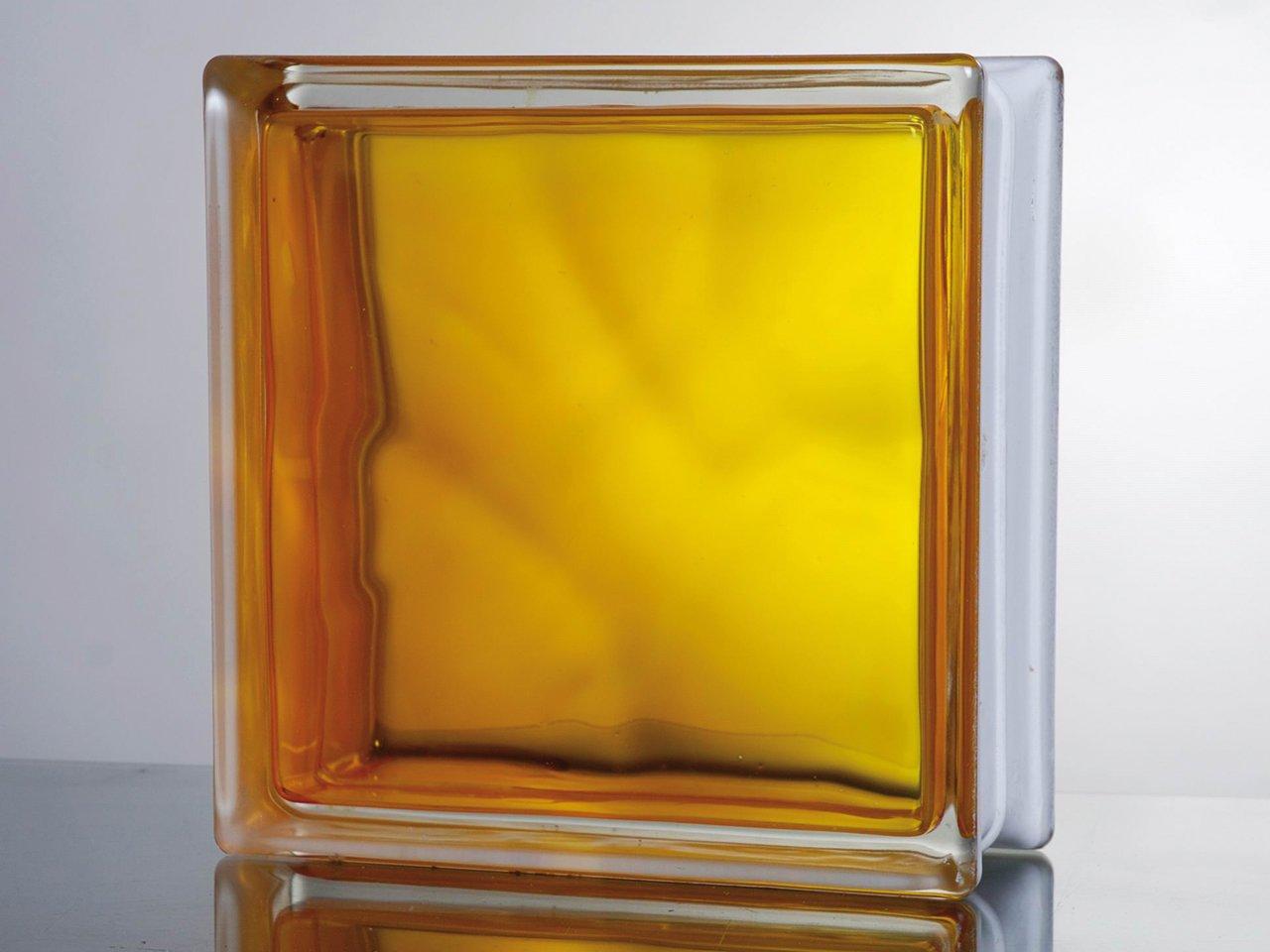 Vetromat in colored yellow 19x19x8 iperceramica - Piastrelle vetrocemento ...
