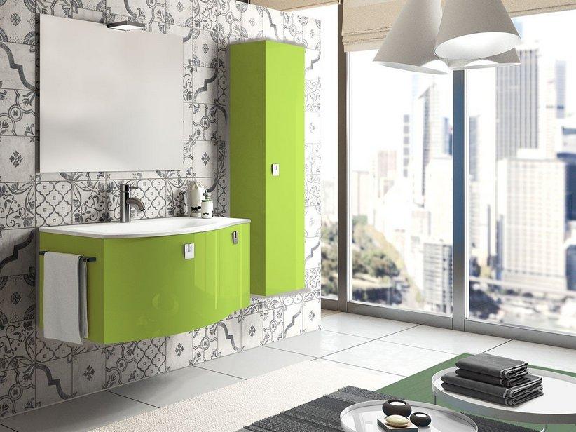 mobile bagno wave color iperceramica, Disegni interni