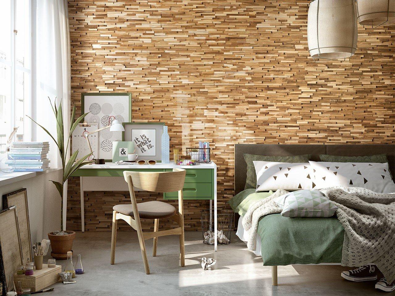 Rivestimento in legno naturale wonderwood natural iperceramica - Rivestimento in legno per bagno ...