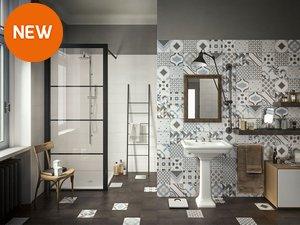 Piastrelle bagno bianche e nere. affordable bagno bianco lucido x cm