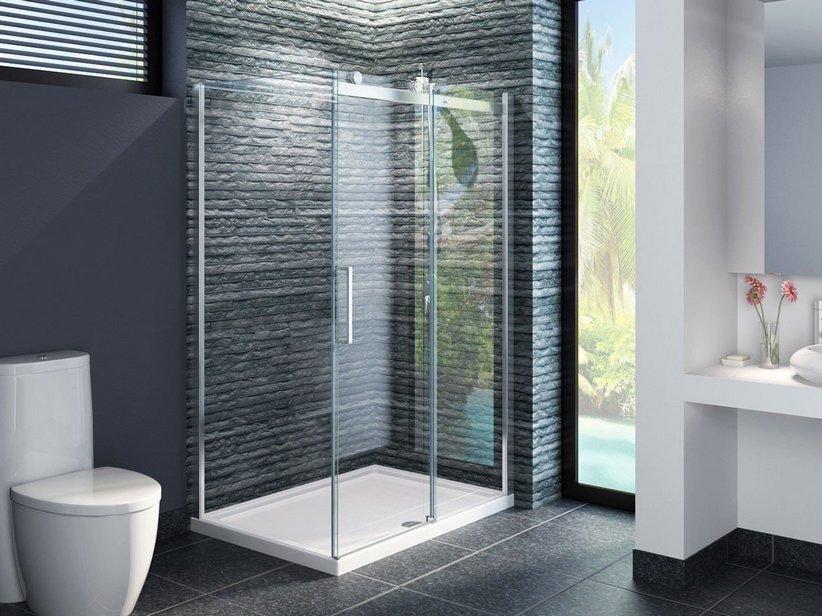 Cabine Doccia Rettangolari : Box cabina doccia bagno angolare scorrevole rettangolare