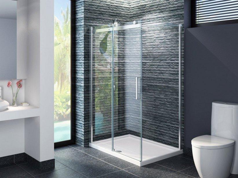 Cabine Doccia Rettangolari : Box cabina doccia bagno rettangolare quadrato curvo