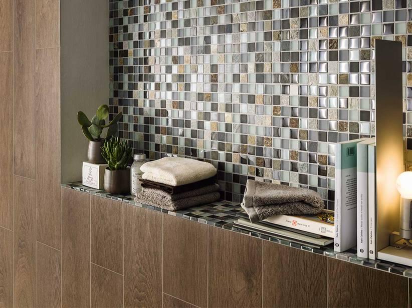 Listone gres porcellanato effetto parquet avenue - Bagno parquet e mosaico ...