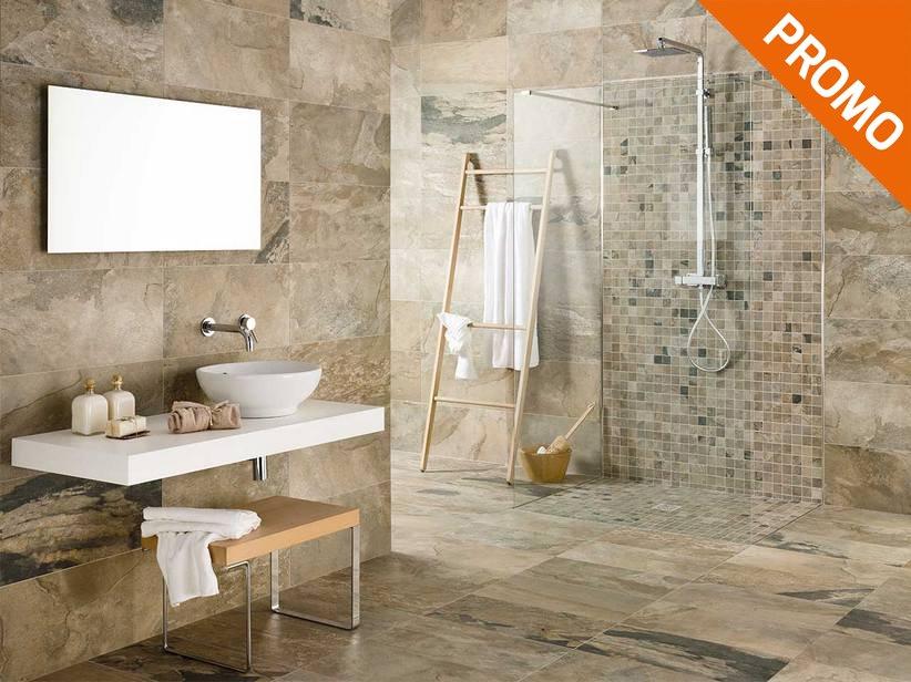 Piastrelle Bagno Effetto Pietra : Slate Effect Porcelain Tile
