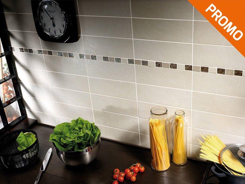 Rivestimento cucina classica efeso iperceramica - Piastrelle per cucina bianca ...