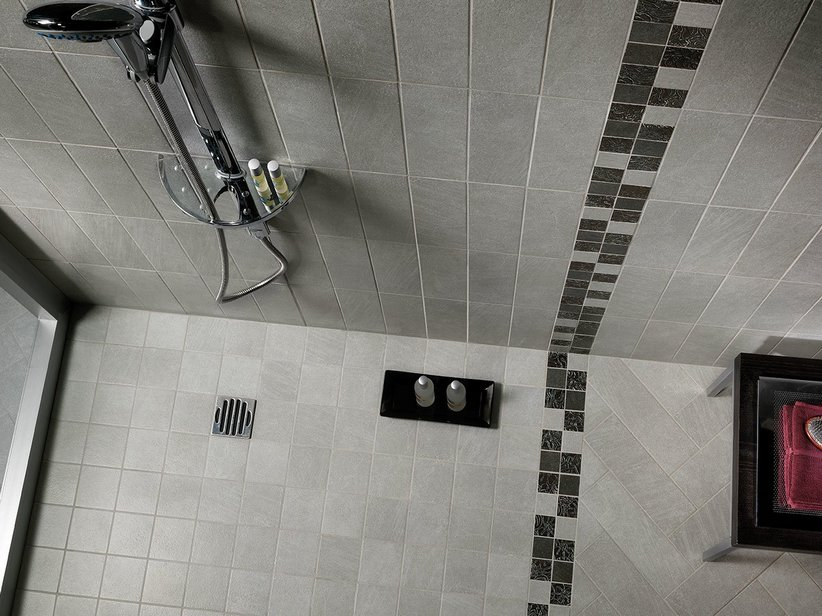 Rivestimento monocottura classico efeso - Piastrelle grigie bagno ...