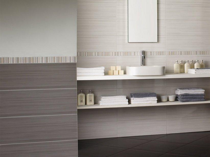 Rivestimento bagno lucido moderno - Finto mosaico bagno ...