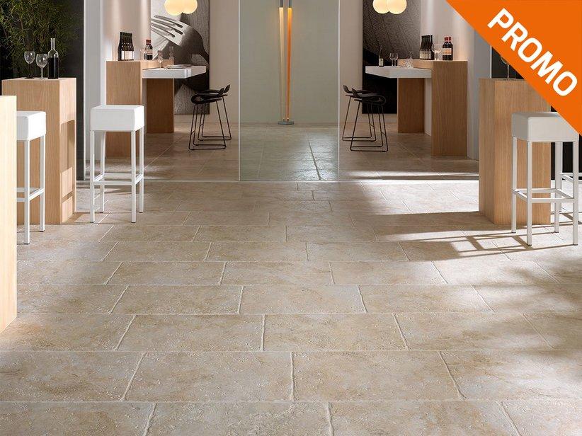 Gres porcellanato effetto pietra leccese trani iperceramica - Piastrelle da esterno 50x50 prezzi ...