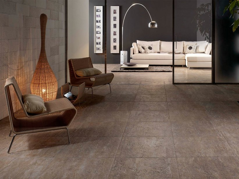 Pavimento effetto pietra anticata trani iperceramica for Pavimento effetto pietra