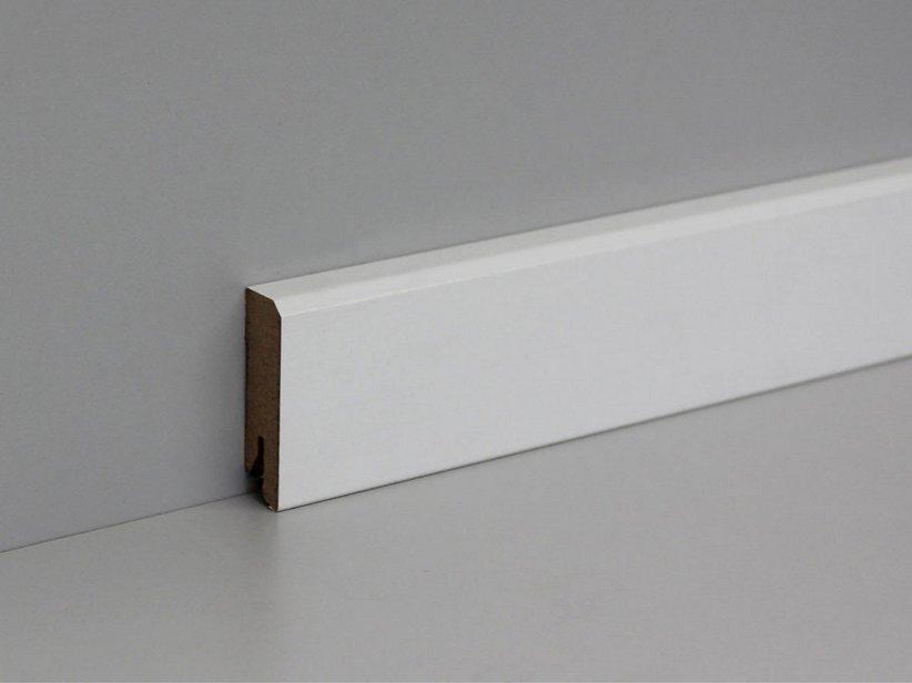 Battiscopa bianco quadrato lunghezza 2 4 mdf iperceramica - Battiscopa per cucina ...