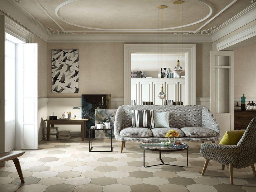 Pavimento esagonale in gres porcellanato bee iperceramica - Piastrelle esagonali prezzi ...