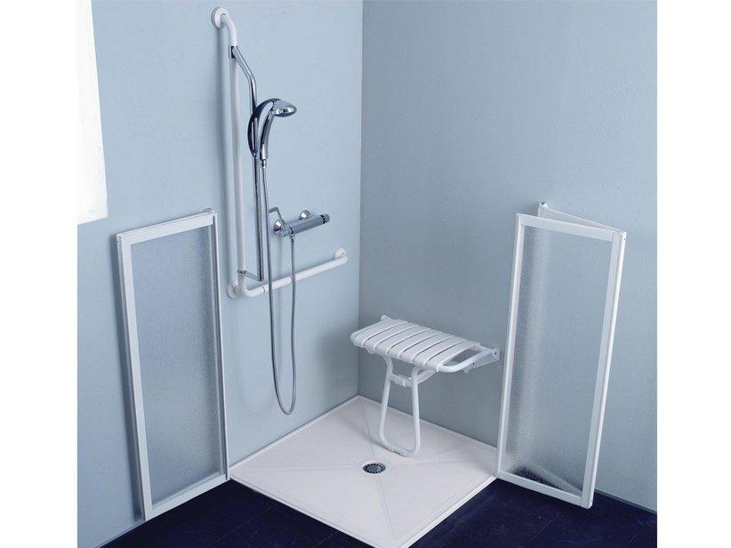 Box doccia disabili cm 90x90x110 bianco iperceramica - Cabine doccia per disabili ...