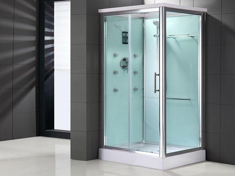 Cabine Doccia Rettangolari : Box doccia rettangolare in vetro con porta scorrevole quadro box
