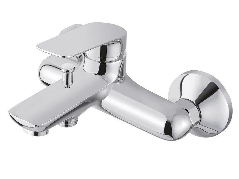 Cinzia miscelatore vasca a muro con kit doccia iperceramica - Rubinetti a muro bagno ...
