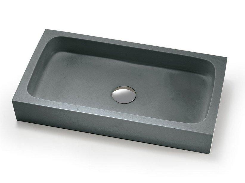 Lavabo d 39 arredo circe resina grigio carnico iperceramica for Lavabo bagno resina