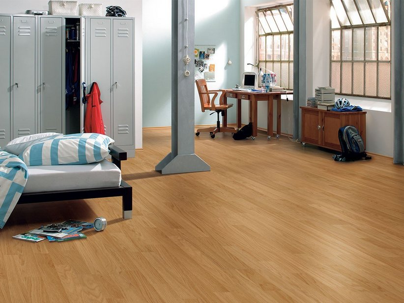 Pavimento laminato effetto rovere oak 3 strip iperceramica - Cucina laminato effetto legno ...