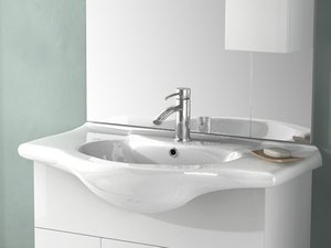 SOFT/EASY 85 LAVABO INTEGRALE 85X50 CERAMICA