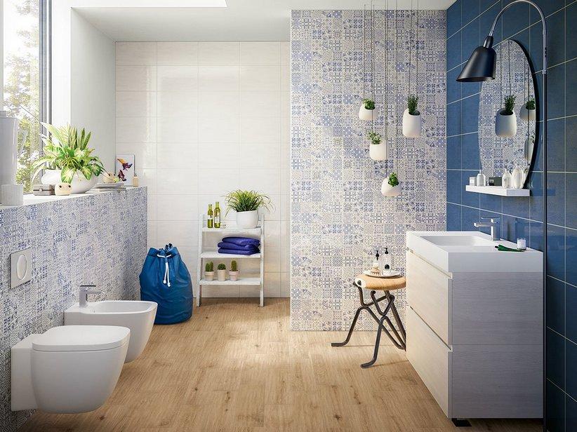 Rivestimento bagno in bicottura colorata easy iperceramica - Rivestimenti bagno iperceramica ...