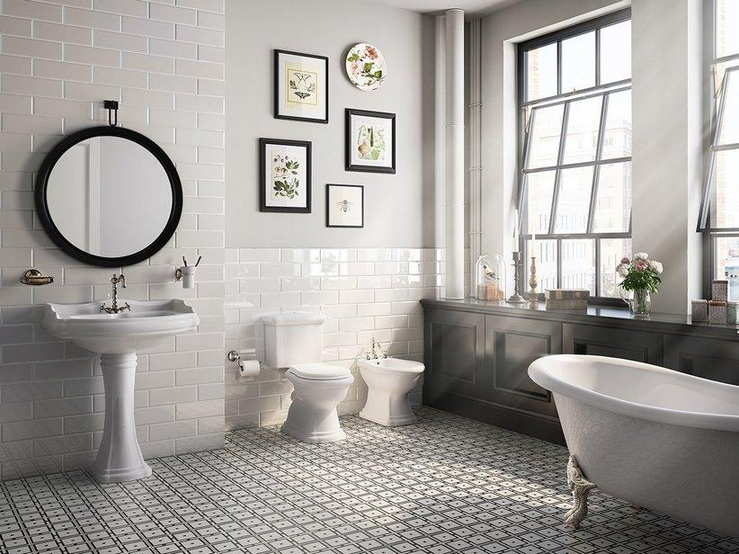 Piastrella bagno design diamantato edge iperceramica for Piastrelle bagno bianche e nere