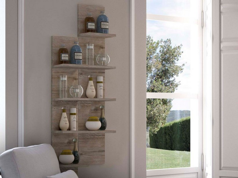 SMART ETAGERE 4R 22x14 ALTEZZA 120 NATURAL OAK