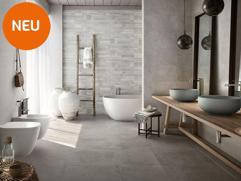 Boden Und Wandfliese Fur Das Badezimmer Mit Steinoptik Ever
