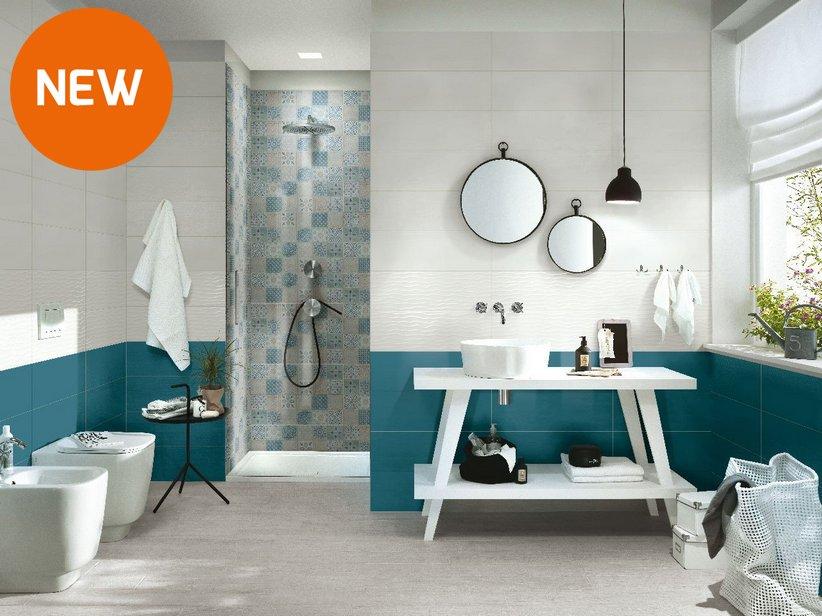 Rivestimento bagno supercolorato fresh iperceramica - Idee rivestimento bagno ...