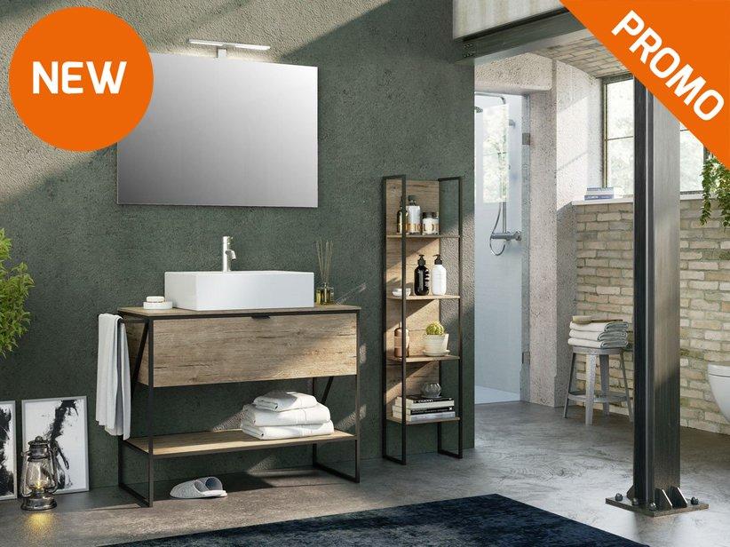 Industry 100 composizione 4 iperceramica for Catalogo mobili bagno