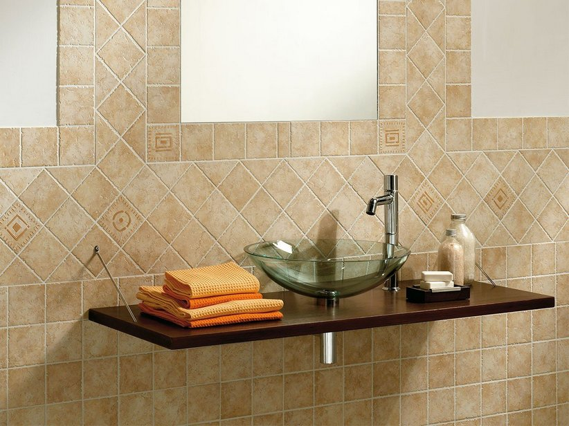 Mosaico 10x10 effetto pietra di gerusalemme iperceramica - Piastrelle per bagno rustico ...