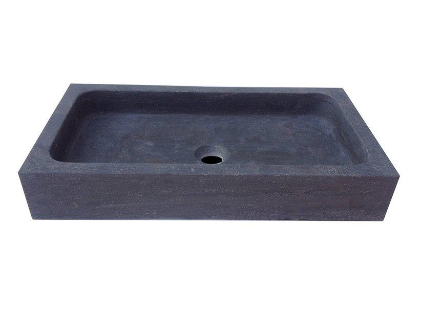 Lavabo purestone union 60x32xaltezza10 nero iperceramica - Lavabo pietra bagno ...