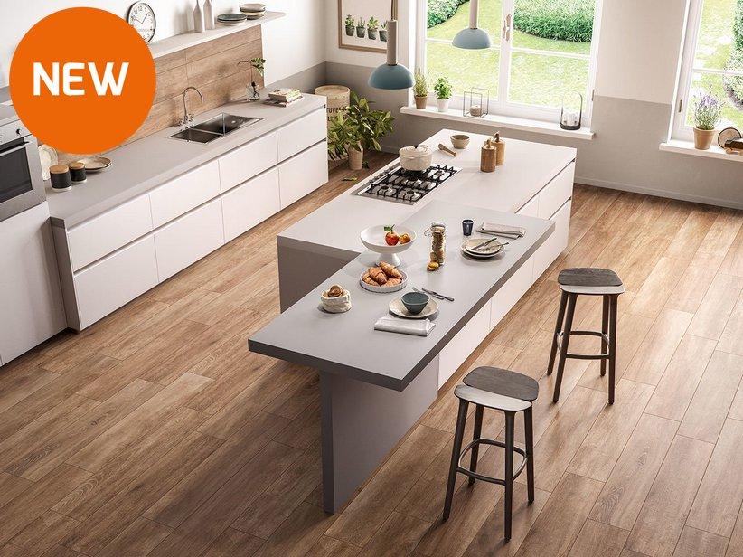 Rivestimento cucina effetto legno rustico lodge - Cucina laminato effetto legno ...