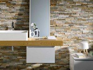 Rivestimento in pietra naturale quarzite natstone mix iperceramica