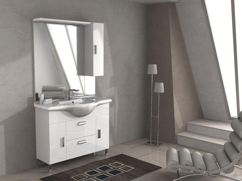 Mobile bagno monoblocco soft 85 iperceramica - Configuratore 3d bagno ...