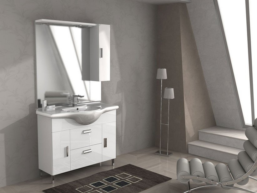 Mobile bagno monoblocco soft iperceramica