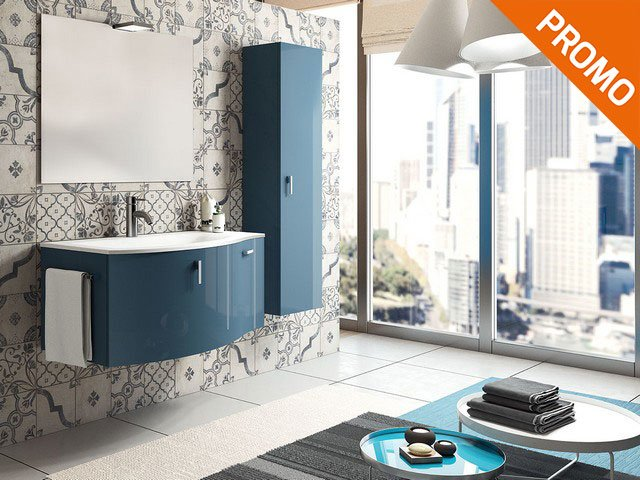 Mobile bagno vogue 100 color iperceramica for Mobile bagno blu