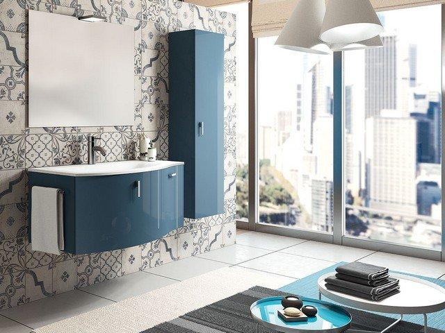 bagni moderni blu bagno moderno laccato opaco azzurro e con