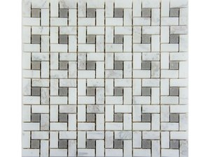 MOSAICO DAMIER TAUPE 30,5X30,5 7MM