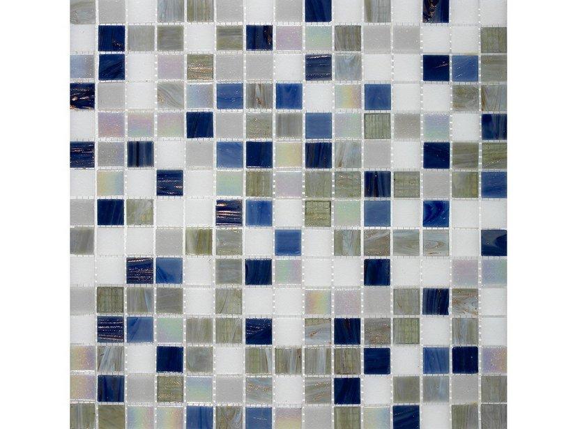 Mosaico vetro leisure blu iperceramica - Mosaico blu bagno ...