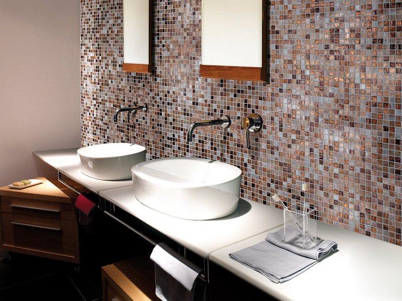 Mosaico vetro conifer iperceramica - Posa mosaico bagno ...