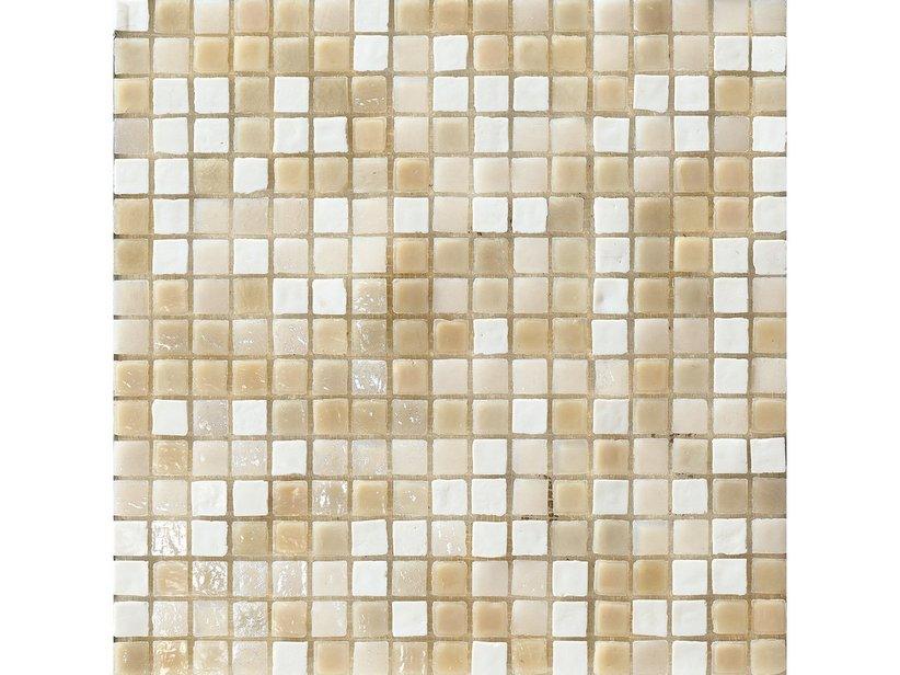Mosaico vetro windsor ivory 31 8x31 8 iperceramica - Mosaico vetro bagno ...