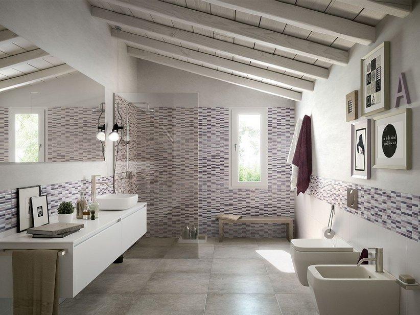 Rivestimento bicottura mosaico preinciso mycolor iperceramica for Piastrelle a mosaico per bagno
